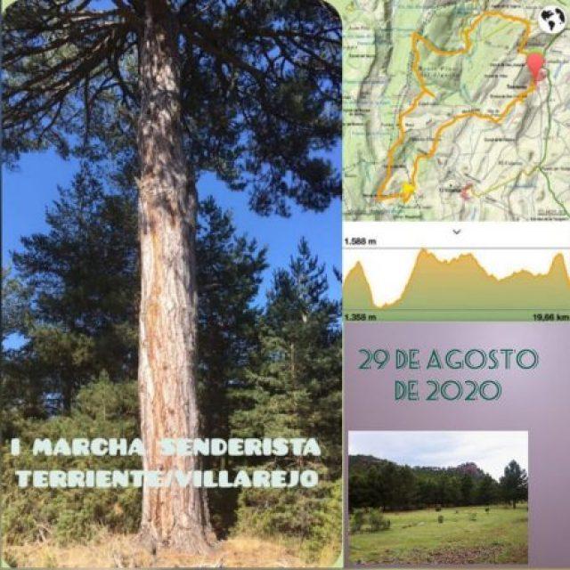 I Marcha Senderista Terriente – Villarejo, el 29 de Agosto de 2020.